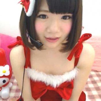 【ライブチャット】LORIカワアイドルのような素人チャット女子!クリスマスコスプレで盛り上げる!